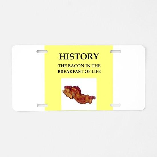 history Aluminum License Plate