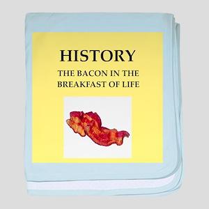 history baby blanket