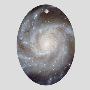 M101 Pinwheel Galaxy Oval Ornament