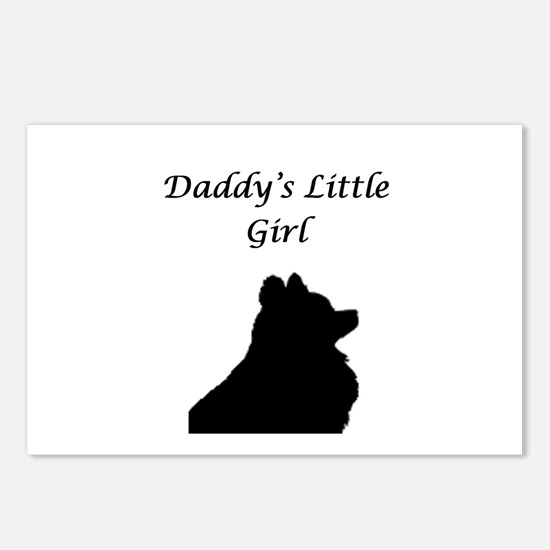 Daddys LIttle Girl Silhouette Postcards (Package o