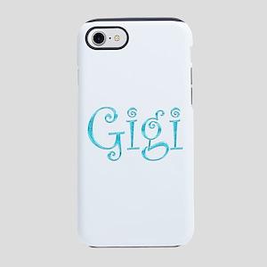 Gigi Glitter & Sparkle (Blue) iPhone 7 Tough Case