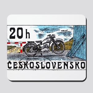 1975 Czechoslovakia Motorcycle Postage Stamp Mouse