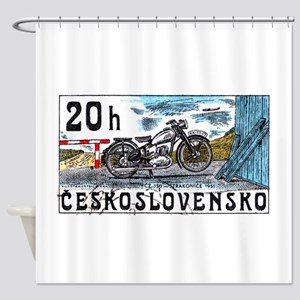 1975 Czechoslovakia Motorcycle Postage Stamp Showe