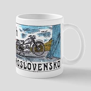 1975 Czechoslovakia Motorcycle Postage Stamp Mug