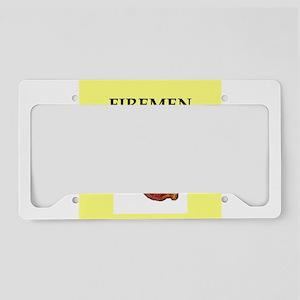 fireman License Plate Holder
