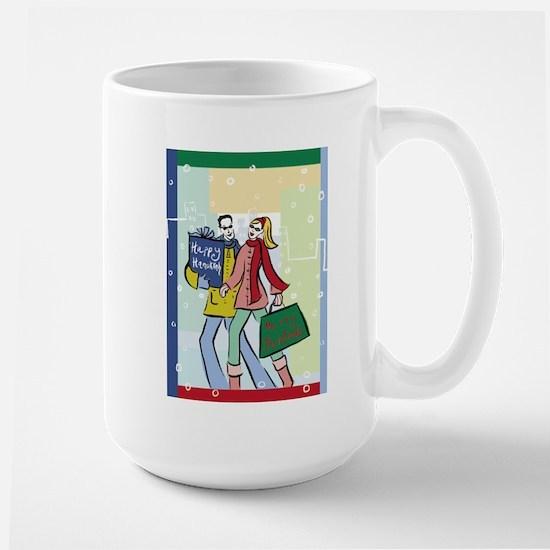 Holiday Shoppers Large Mug