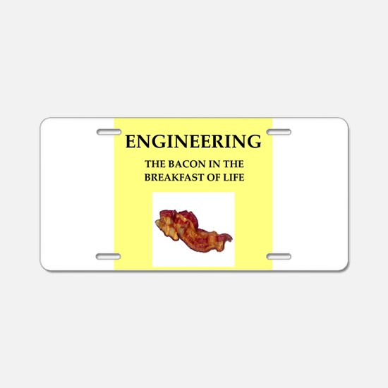 engineer Aluminum License Plate
