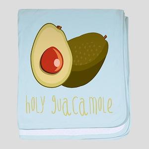 Holy Guacamole baby blanket