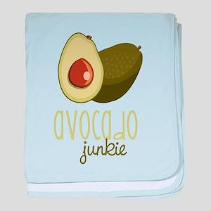 Avocado Junkie baby blanket
