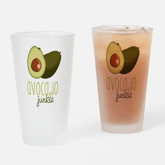 Avocado Junkie Drinking Glass