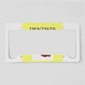 dentist License Plate Holder