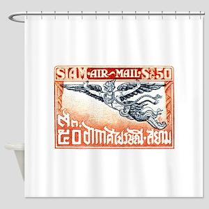 Antique Thailand 1925 Garuda Postage Stamp Shower