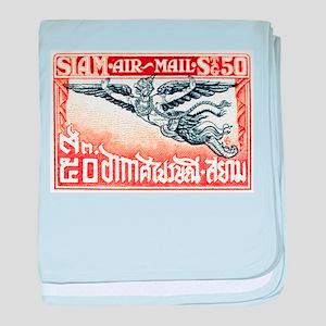 Antique Thailand 1925 Garuda Postage Stamp baby bl