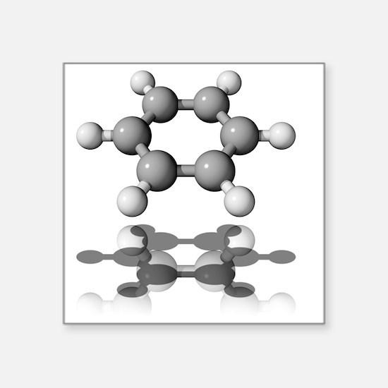 Benzene molecule - Square Sticker 3