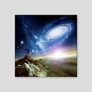 Colliding galaxies, artwork - Square Sticker 3