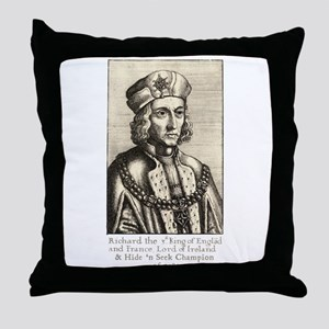 Richard III: Hide 'n Seek Champion Throw Pillow