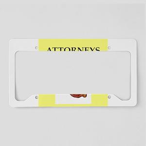 attorney, License Plate Holder