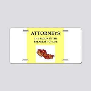 attorney, Aluminum License Plate