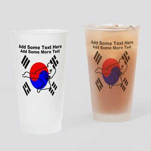 Taekwondo Drinking Glass