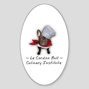 Le Cordon Bull Oval Sticker