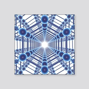 Graphene sheets, artwork - Square Sticker 3