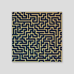 Maze, artwork - Square Sticker 3