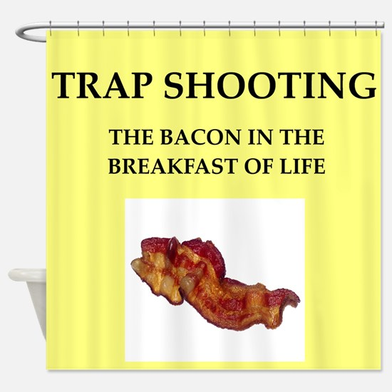 trap shooting Shower Curtain