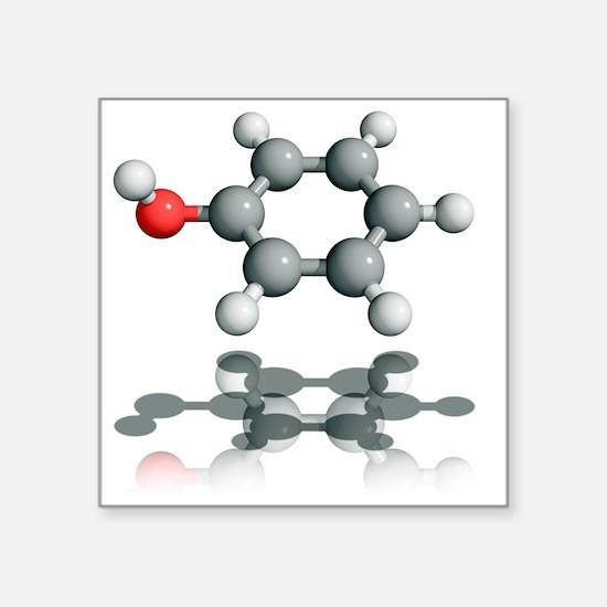 Phenol molecule - Square Sticker 3
