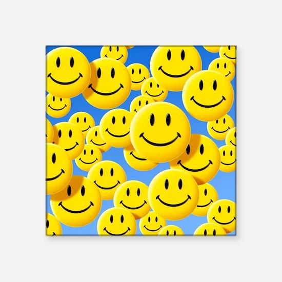Smiley face symbols - Square Sticker 3