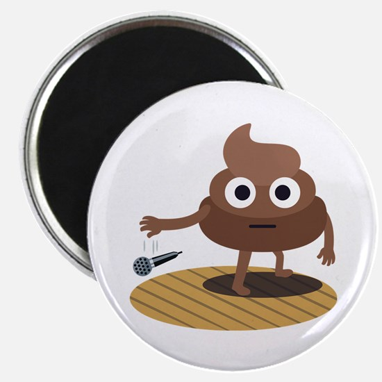 Emoji Poop Mic Drop Magnet