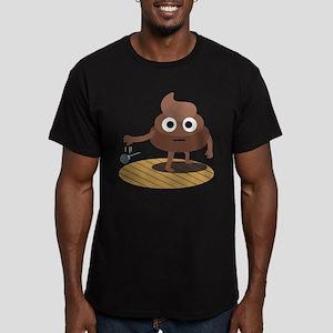 Emoji Poop Mic Drop Men's Fitted T-Shirt (dark)