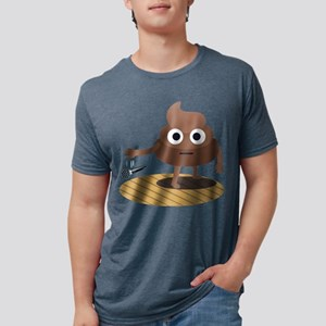 Emoji Poop Mic Drop Mens Tri-blend T-Shirt