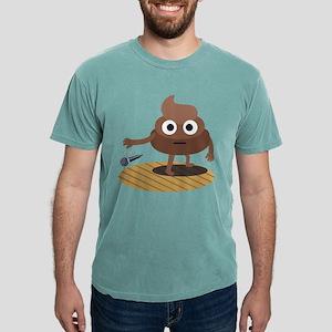 Emoji Poop Mic Drop Mens Comfort Colors Shirt