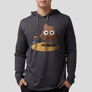 Emoji Poop Mic Drop Mens Hooded Shirt