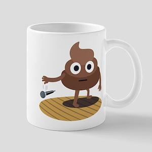 Emoji Poop Mic Drop 11 oz Ceramic Mug