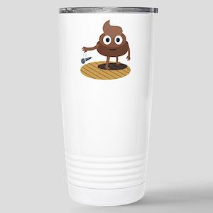 Emoji Poop Mic Dr 16 oz Stainless Steel Travel Mug