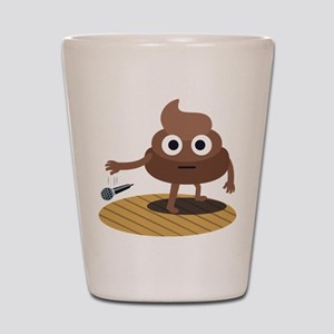 Emoji Poop Mic Drop Shot Glass