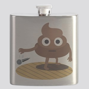 Emoji Poop Mic Drop Flask