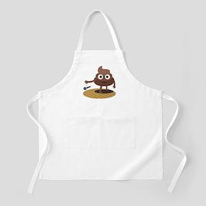 Emoji Poop Mic Drop Light Apron