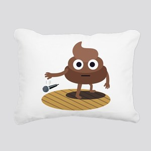Emoji Poop Mic Drop Rectangular Canvas Pillow