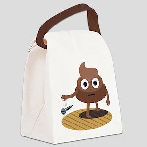 Emoji Poop Mic Drop Canvas Lunch Bag