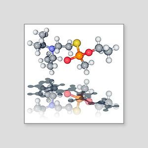 VX nerve agent molecule - Square Sticker 3