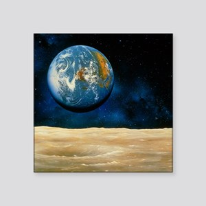 Artwork of the Earth as seen from the Moon - Squar