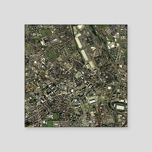 Bradford, UK, aerial image - Square Sticker 3