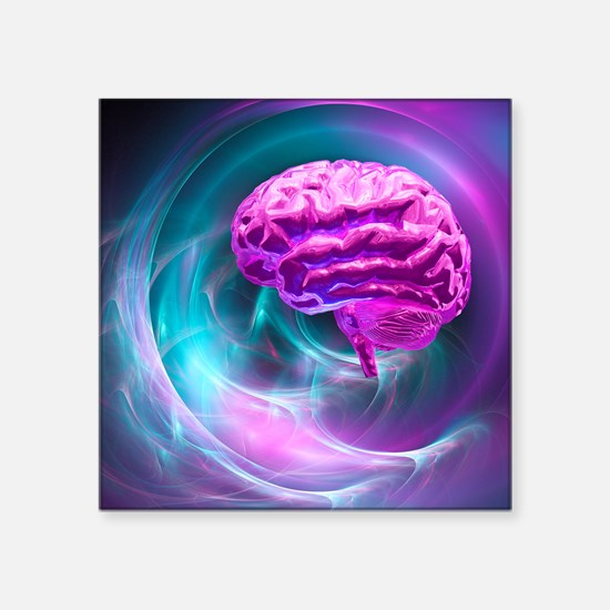Brain research, conceptual artwork - Square Sticke