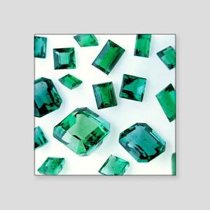 Emerald gemstones - Square Sticker 3