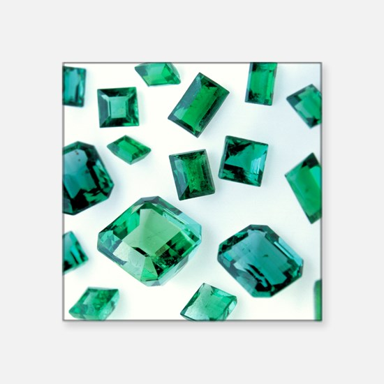 Emerald gemstones - Square Sticker 3