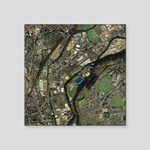 Huddersfield, UK, aerial image - Square Sticker 3