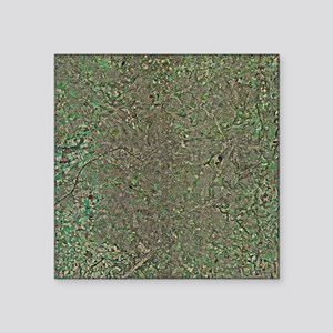 Manchester, UK, aerial image - Square Sticker 3