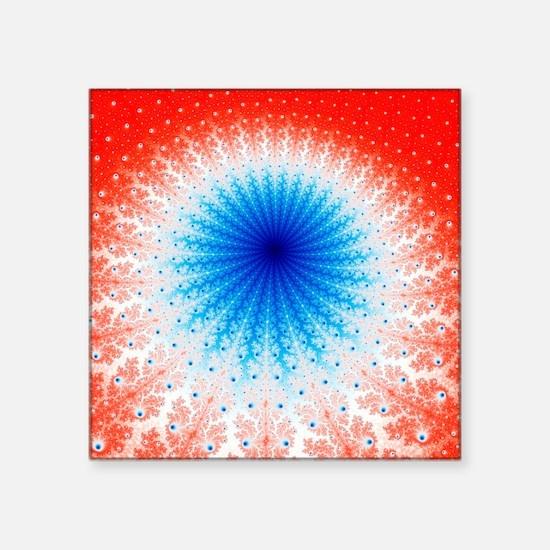Mandelbrot fractal - Square Sticker 3